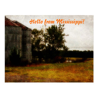 Hello From Mississippi Postcard