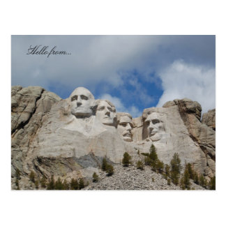 Hello from... Mount Rushmore Postcard