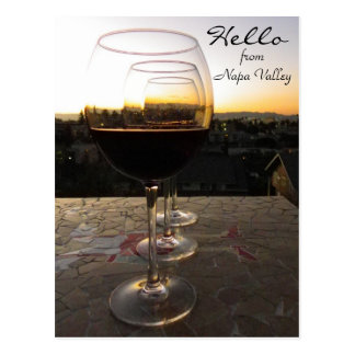 Hello From Napa Valley Postcard! Postcard
