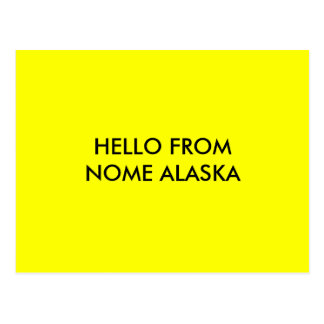 HELLO FROM NOME ALASKA POSTCARDS