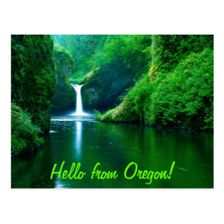 Hello from Oregon Post Card
