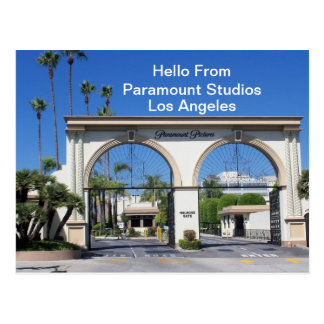 Hello From Paramount Studios    Postcard