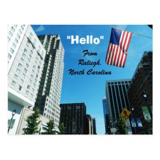 """HELLO"",FROM RALIEGH postcard"