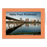 Hello From Richmond Greeting Card
