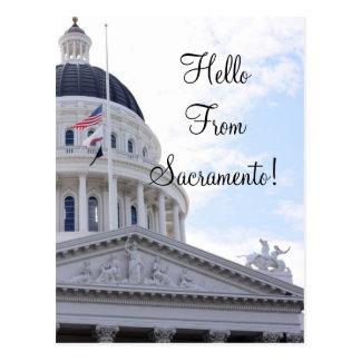 Hello From Sacramento Postcard