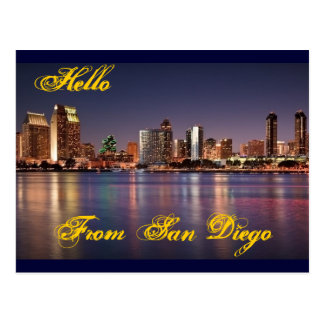Hello From San Diego Post Card