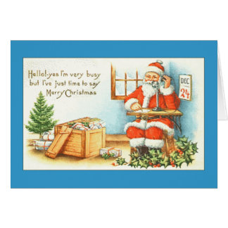 Hello From Santa Greeting Cards