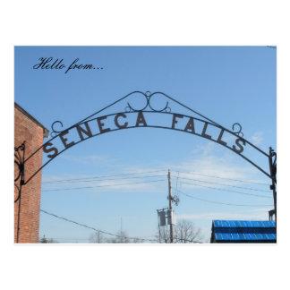 Hello from... Seneca Falls, NY Postcard