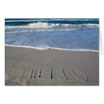 Hello From The Beach Greeting Cards