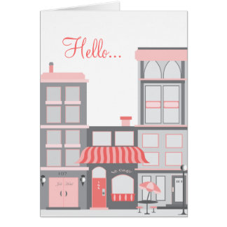 Hello from the city! greeting cards