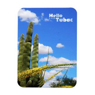 Hello from Tubac, Saguaro Cactus Magnet