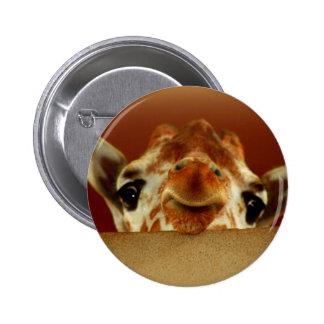 Hello Giraffe Pinback Button