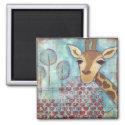 Hello ~ Giraffe Magnet magnet