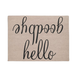 Hello goodbye funny quote saying humor hipster jut doormat