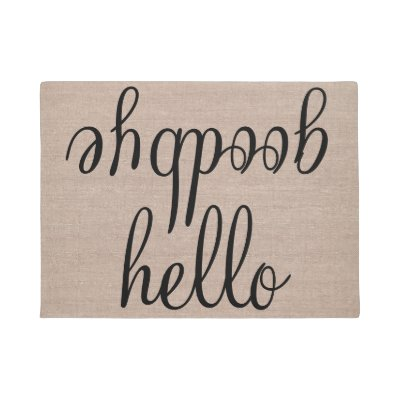 Hello goodbye funny quote saying humor hipster jut doormat