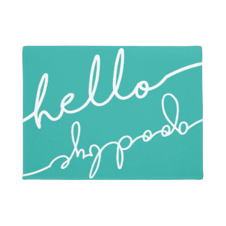 Hello Goodbye Typography - Pick Your Color Doormat
