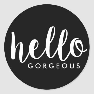 Hello Gorgeous Customizable Envelope Seal Sticker