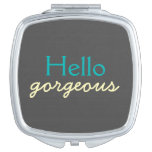Hello Gorgeous - Flattering to Every Face - Teal Vanity Mirror