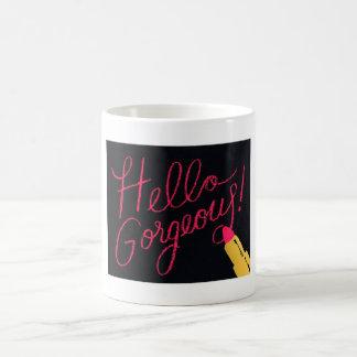 Hello Gorgeous Lipstick Coffee Mug