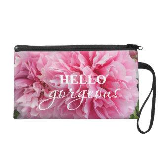 """Hello Gorgeous!"" Peony mini Purse Cosmetic bag"