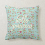 Hello gorgeous vintage shabby floral pattern chic throw pillows