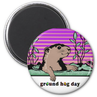 Hello, Groundhog's Shadow - Magnet