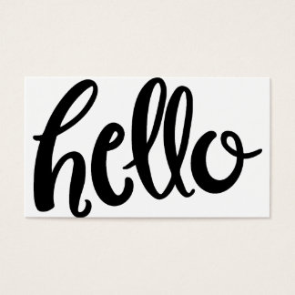 Hello Hand Lettered Business Card