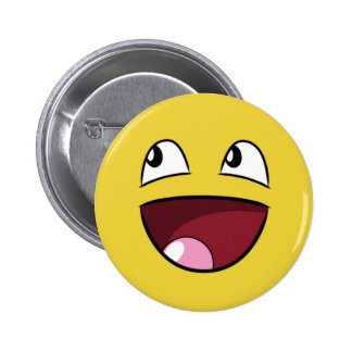 hello happy face pins