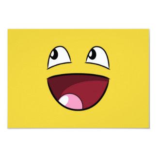 hello happy face card