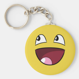 hello happy face keychains