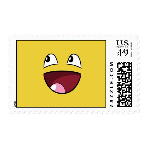 hello happy face postage stamps