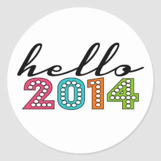Hello Happy New Year 2014 New Year's Eve Sticker