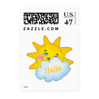 Hello - Happy sun | Cool Gifts Postage