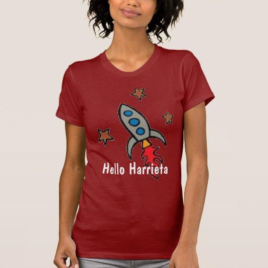 Hello Harrieta Rocket Ship T-Shirt