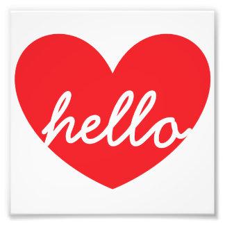 "Hello Heart 6"" x 6"" Kodak Photo Paper"