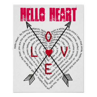 Hello Heart by Denny DeMarchi Song Lyics Poster