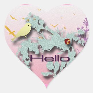 Hello Heart Sticker