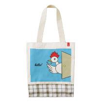 Hello!  Hello! Zazzle HEART Tote Bag