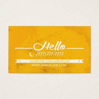 Hello hexagon grunge business card