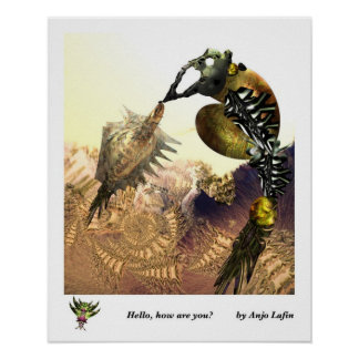 Hello how are you print by Anjo Lafin