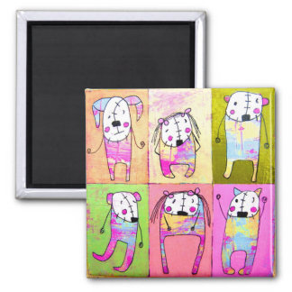 Hello Humans 2 Inch Square Magnet