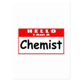 Hello, I Am A Chemist ... Nametag Postcards