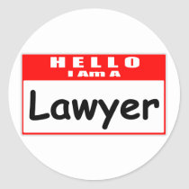 Hello, I Am A Lawyer ... Nametag Stickers