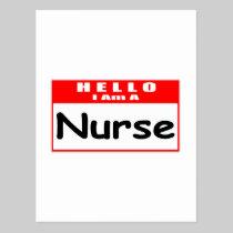 Hello, I Am A Nurse ... Nametag Postcards