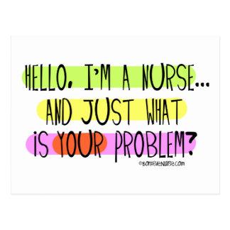 Hello I am a Nurse Postcard
