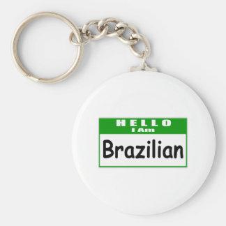 Hello, I Am Brazilian ... Nametag Keychains