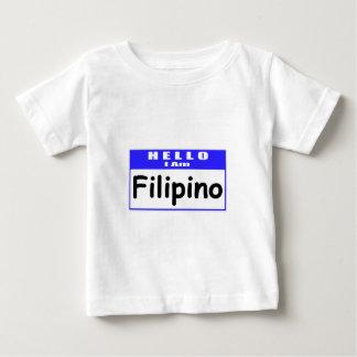 Hello, I Am Filipino ... Nametag T-shirts