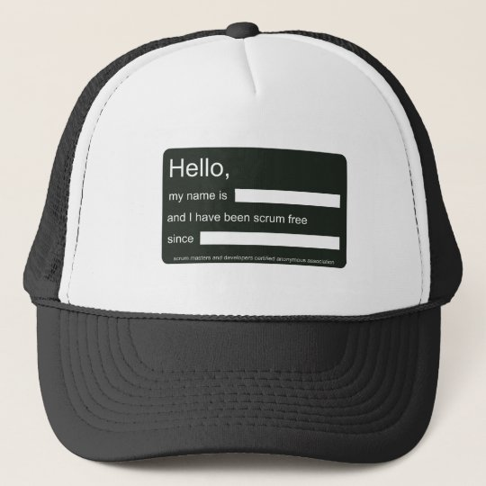 Hello, I am scrum free (hat) Trucker Hat