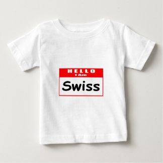 Hello, I Am Swiss ... Nametag Tshirts