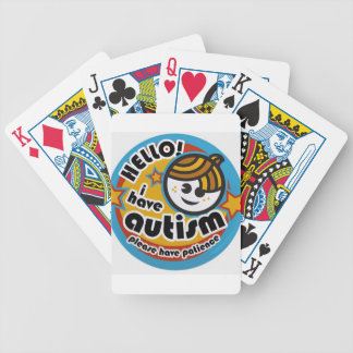 HELLO I HAVE AUTISM - AWARENESS BICYCLE PLAYING CARDS
